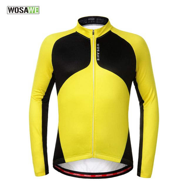 Cycling Clothing Real Jerseys Mavic Wosawe 2017 Thermal Fleece Cycling Windproof Warmer Bike Jacket Sport Clothing Sports Coat