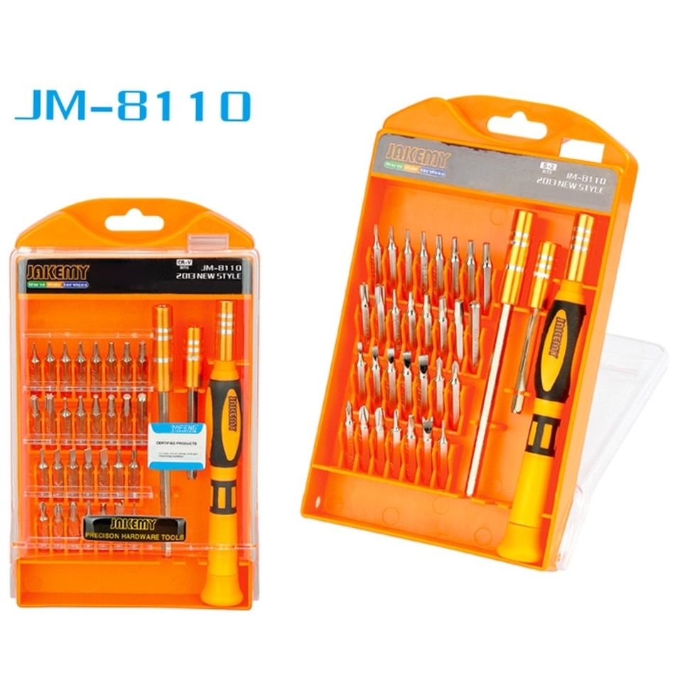 JAKEMY 33 in 1 Interchangeable Precision Screwdriver Set Magnetic Screwdriver Kit Repair Tools for Laptops Mobile Devices