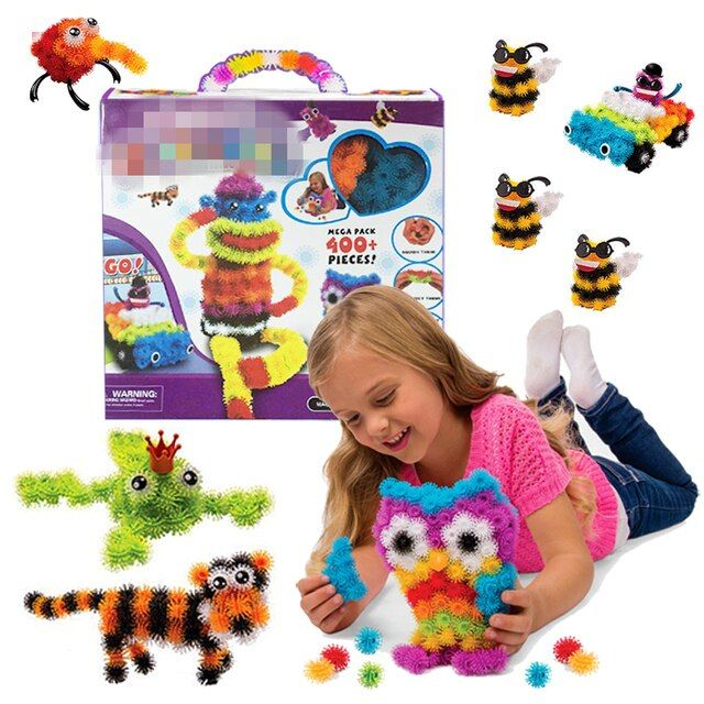 400pcs Kids Build Mega Pack Models & Building Toy Intelligent & Educational Animals Stickers Blocks Sets Baby Models Toy #F