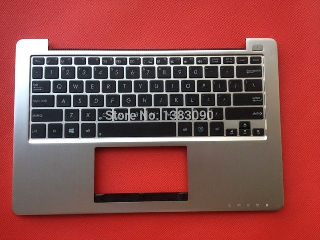 90% NEW Original For ASUS X201E X202E S200E US Layout Silver Golden White Black C shell Laptop Keyboard