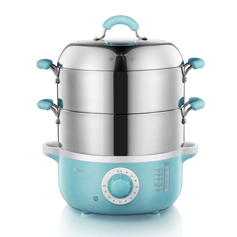 Bear Electric Steamer Steamed Two Layers Stainless Steel Cooker Cooking DZG-240GA