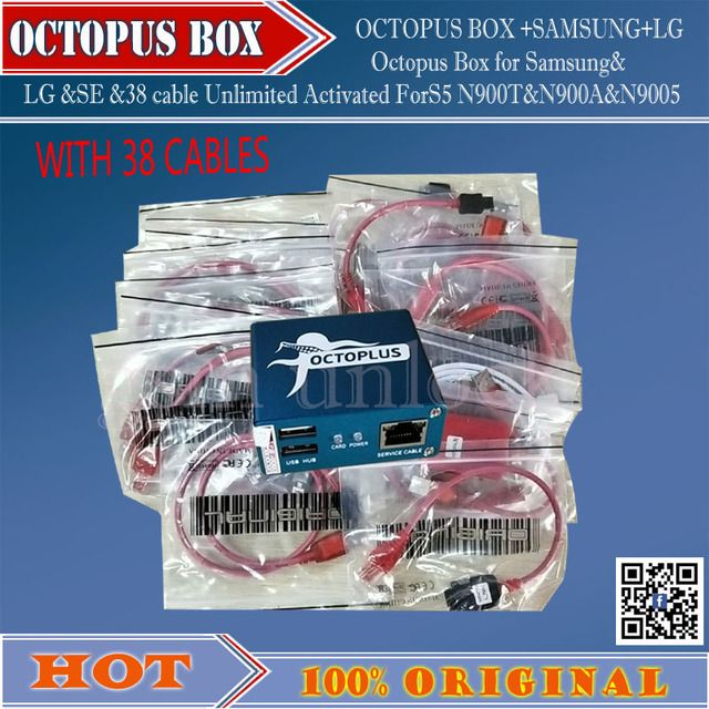 gsmjustoncct 100% Original Octopus box for Samsung &LG Pre-activated New update For Samsung S5 (package with 38 cables)Free ship