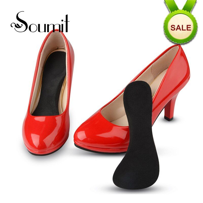Soumit 3/4 Length Invisible Silicone Gel Orthopedic Insoles for Women High Heels Arch Support Insert Shoes Pad Palmilha Insole