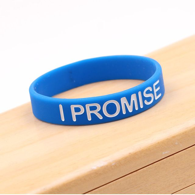 Fashion Bracelet For Men Women I PROMISE Blue Silicone Bracelets & Bangle Power Bands Energy Wristbands Jewelry Simple Design