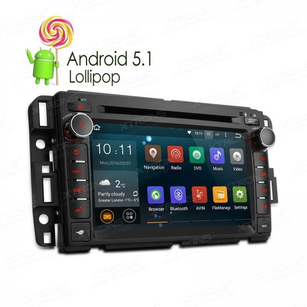 "7"" Quad Core 64 Bit Android 5.1 OS Special Car DVD for Chevrolet Avalanche 2009-2011 & Express Van 2008-2011 & Impala 2008-2012"