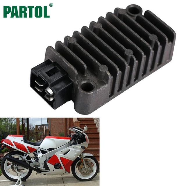 Partol Motorcycle Regulator Rectifier for Yamaha FZR600R 400 TDM850 TT225 250 XT225 TT-R250 SRX600 TW200 Trailway XV250 Route 66