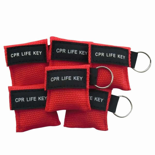 500Pcs/Pack Mini CPR Life Key CPR Face Shield Resuscitator Mask With Keychain Key Ring Emergency Rescue Survival Kit For Healthy