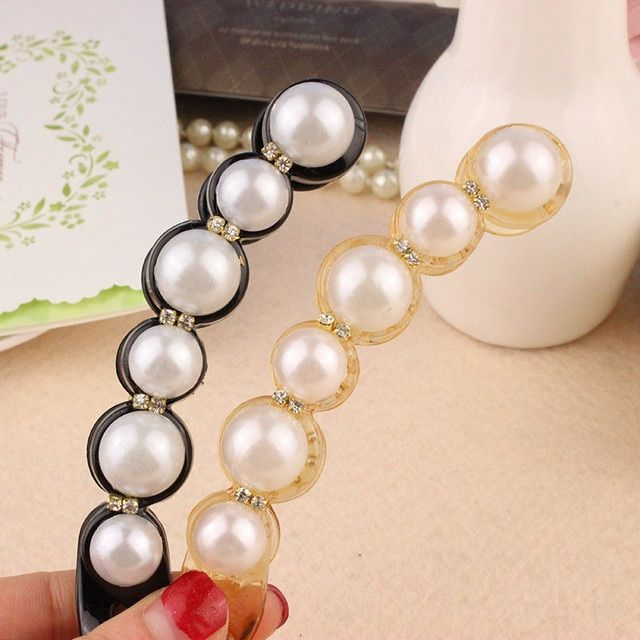 Fashion Women Lady Hot Popular 2 Colors Charming Simulated Pearls Hairpins Hair Clip Hair Accessories Hair Jewelry