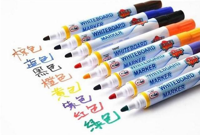 8 Colors Colorful Free shipping Erasable colorful whiteboard Marker pens 1 set 8 colors Furniture Accessories