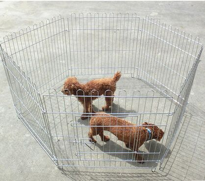 High-end electroplating pet fence The poodle Leung than bear run cage The dog fence / 6 slice