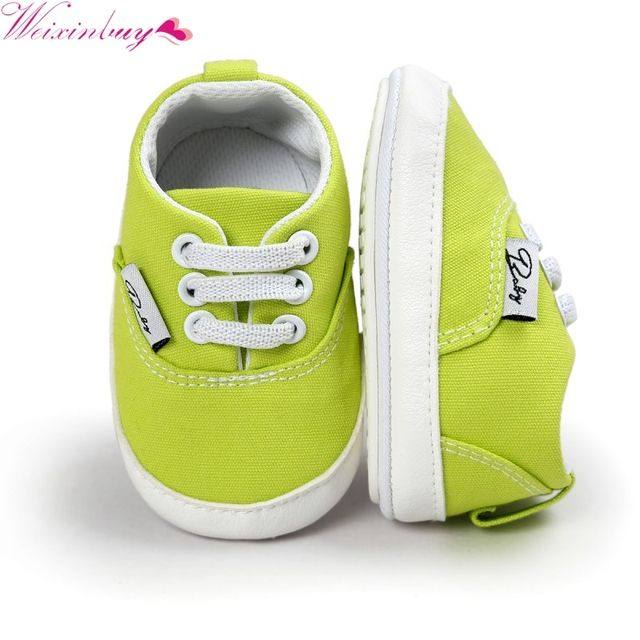 WEIXINBUY Toddler Anti-skid Sneaker Shoes Casual Prewalker Newborn Baby Girl Boy Soft Sole Shoes 12 Colors