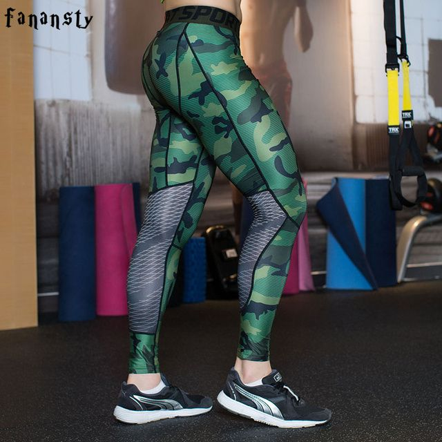 Camouflage Men Compression Tights 2017 New Camo Pants Sport Leggings Adult Gym Clothing Running Pants Men Fitness Jogging homme