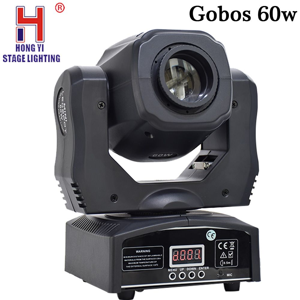Gobos 60w led moving head spot stage lighting DMX Channel prism led moving light for dj party stage lighting