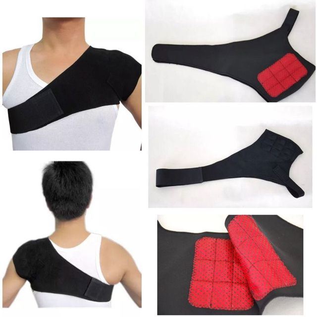 Magnetic Therapy Pain Relieve Magnetic Therapy Shoulder Protection Self-heating Tourmaline Belt Shoulder Posture Correcter H007