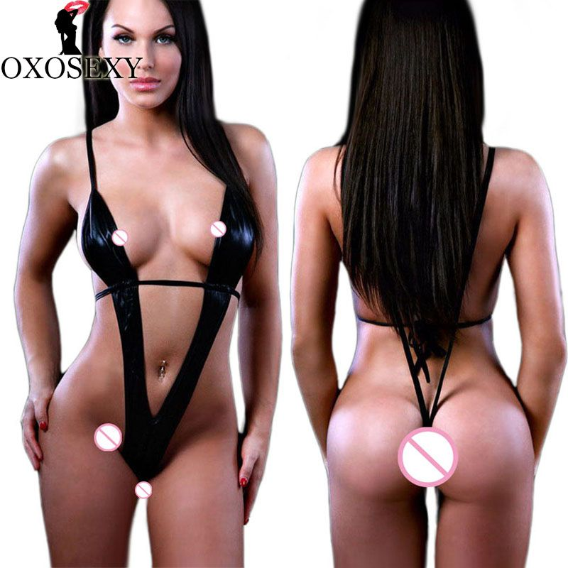 OXOSEXY new women plus size sexy lingerie hot black leather erotic lingerie teddy sexy underwear sexy costumes lenceria sexy 919