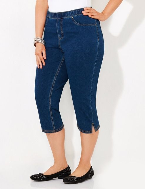 XXL-10XL Plus Size Women Jean Capris Pants Cotton Knit Big Large Size Trousers Oversize 4XL 5XL 6XL 7XL XXXXL XXXXXL  Summer
