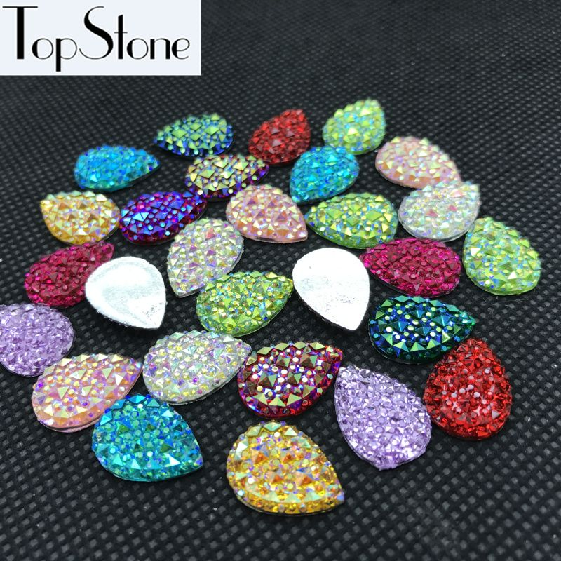 All Colors AB Crystal Resin Acrylic Teardrop flatback Rhinestones 10x14mm,13x18mm 18x25 Scrapbooking crafts Jewelry Accessories