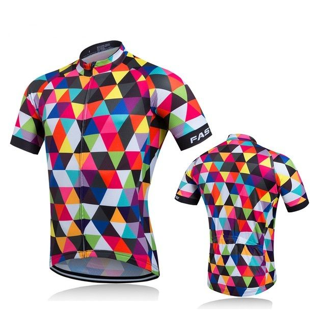 2017 Maillot de velo Ciclismo Short Sleeve Jersey MX Mountain MTB Riding Clothes Top Cycling Shirts Pockets Bike Wear