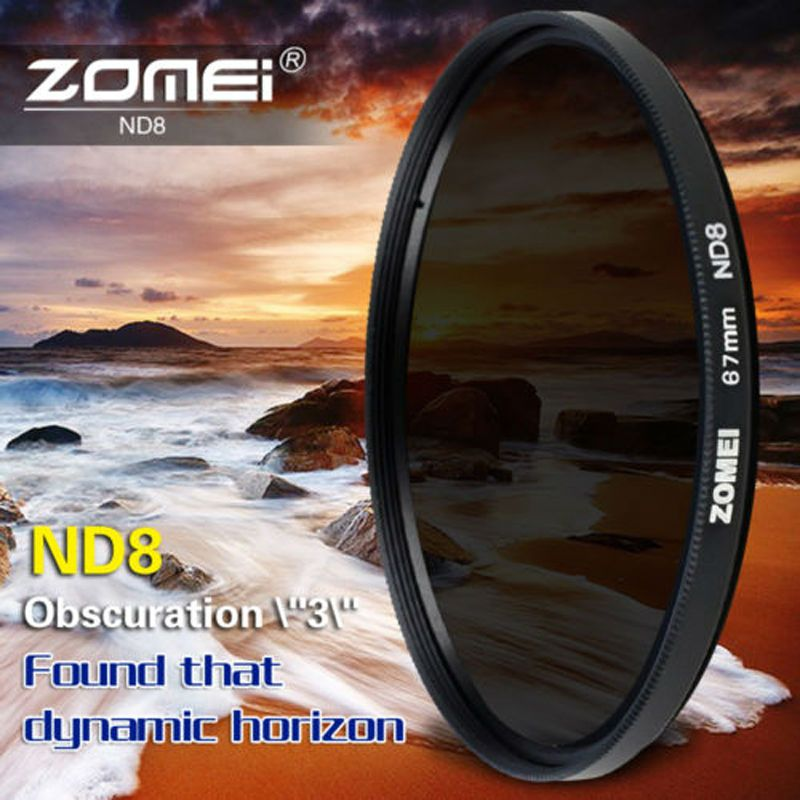 Zomei Slim Neutral Density Filter ND8 ND 2/4 8 52mm 55mm 62mm 67mm 72mm 72 nd filter 77mm for Canon Sony Pentax Dslr Camera Lens