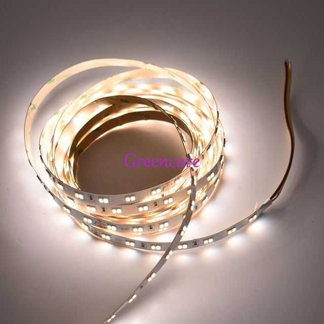 Bright 22-24LM/led 2835 LED Strip CCT Dimmable 112leds Two color stripe 6000k/3000K 5M/lot Non waterproof Free Shipping