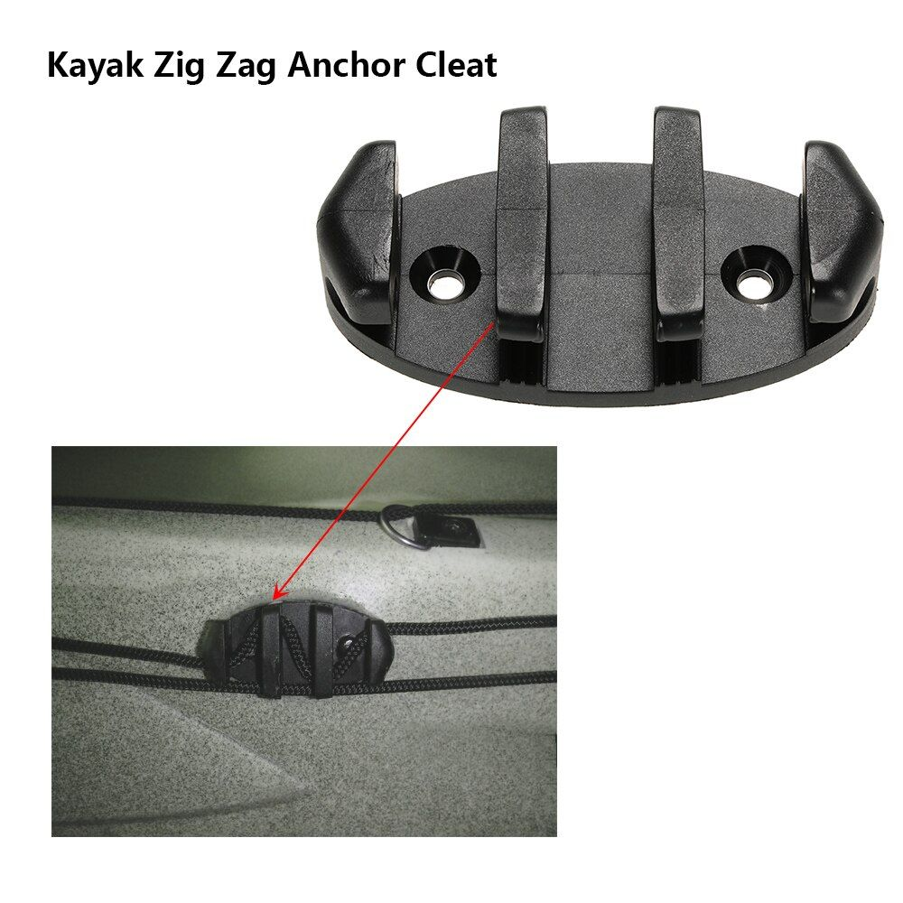 1pc Zig Zag Anchor Cleat for Kayak Marine Fishing Boat Canoes Rowing Boats Kayak Accessories Black
