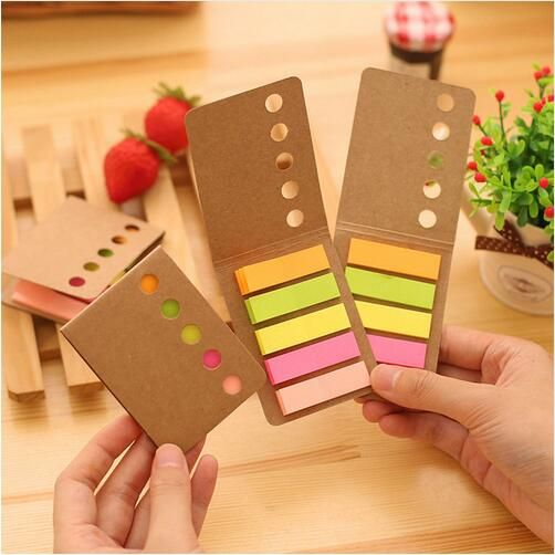 1pcs/lot Rainbow diary sticker bookmarker note Folding memo pad sticky notes Office accessories School supplies