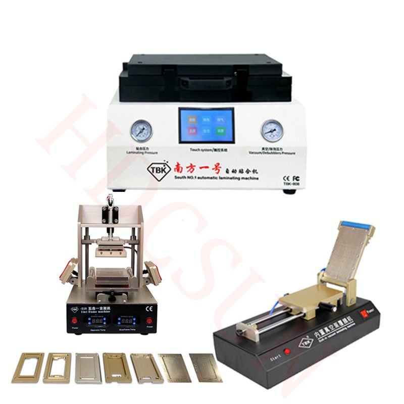 Newest TBK-808 Automatic Bubble Removing Machine OCA Vacuum Laminating Machine+5 in1 Frame Separator machine+OCA film machine