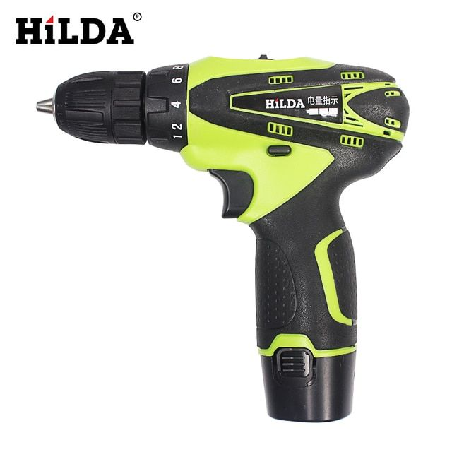 HILDA 12V Electric Screwdriver Lithium Battery Rechargeable Parafusadeira Furadeira Multi-function Cordless Electric Drill Power