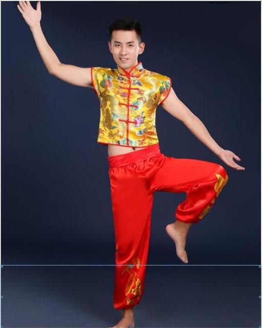 Chinese culture Lion dance Man Dance dance costume Acrobatic dance costumes