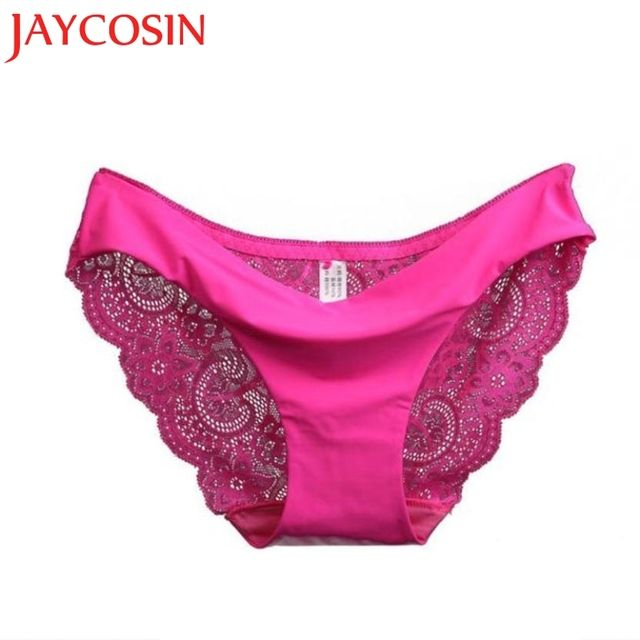 RE Ladies underwear woman panties Victoria fancy lace calcinha renda sexy panties for women traceless crotch of cotton briefs