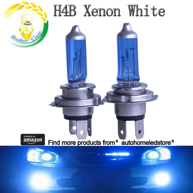 2PC X H4B Halogen Bulb 12V 55W H8B Car Halogen 12V 35W Xenon white and clear white