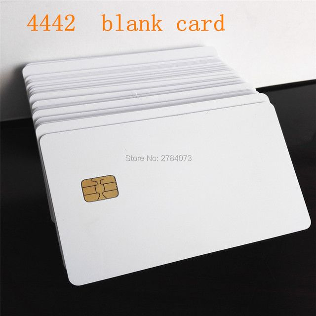 100PCS 4442 Chip Card Factory Sales PVC Blank White Card Smart Card Plastic Card