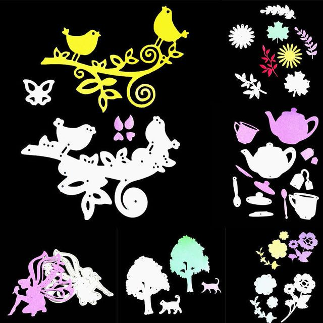 Metal Cutting Dies Stencil Scrapbooking Paper Card Embossing DIY Craft Scrapbook Decorative Die Cutter Template 11 Styles