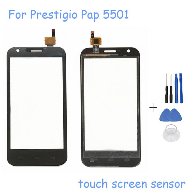 "Original 5.0"" Touch Panel For Prestigio MultiPhone PAP 5501 DUO PAP5501 Sensor Touch Screen Digitizer Front Glass + Free Tools"