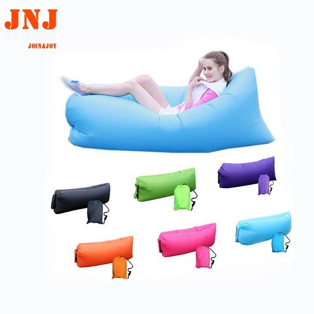 Fast Inflatable lazy sleeping bag High Quality Outdoor Sleep Relax Air Sofa bag Colorful Water-proof Folding Inflatable Sofa