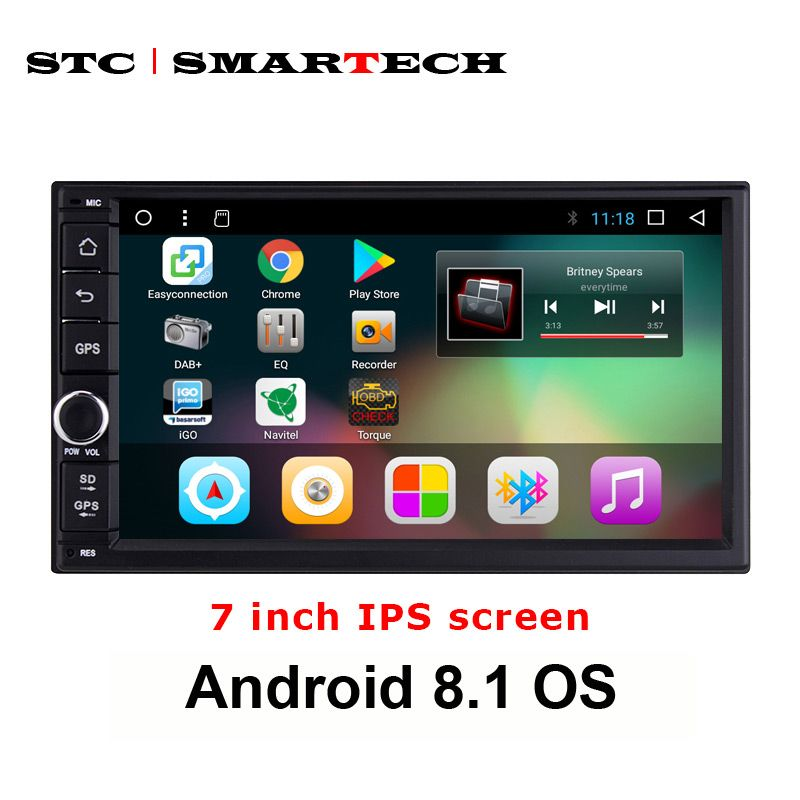SMARTECH 2din Android 8.1 Car GPS Navigation Autoradio System For Nissan Toyota Suzuki Hyundai Honda Support DAB DVR TPMS OBD 4G