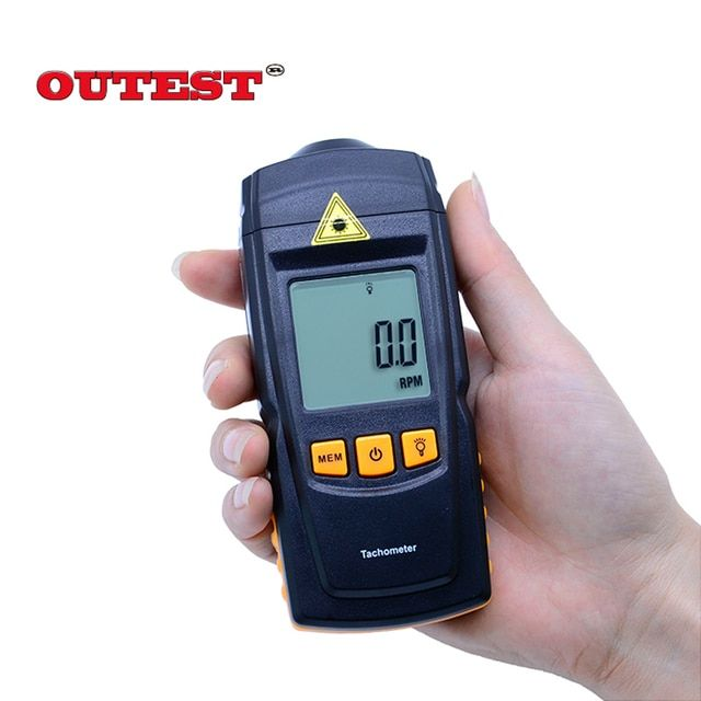 Digital GM8905 LCD Laser Tachometer Non-Contact RPM Tach Test Meter Motor Speed Gauge HandheldB With box