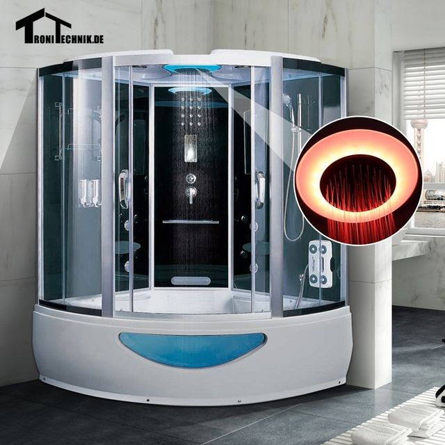 1500mm massage Bath Corner Whirlpool Steam Shower Room  Cabin Cubicle Enclosure glass sliding doors walking-in sauna rooms K18