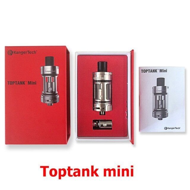 Original Kanger Toptank Mini Atomizer E-Cigarette Topfill Sub Ohm Tank For Kangertech Kbox 70 200W Box Mod Topbox Mini Kit  (MM)