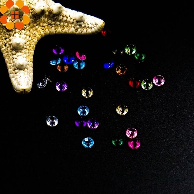 High Quality!500PCS/Lot 4.5MM Bling Acrylic Crystals DIY Crafts Diamond For Wedding Decoration Events Party Festive Supplies