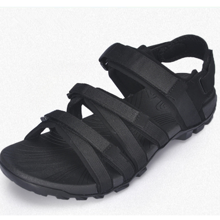 Summer Mesh Casual Sandals Open Toe Men Beach Sandals New Style Fashion Design High Quality Solid Color Black Size 38-44