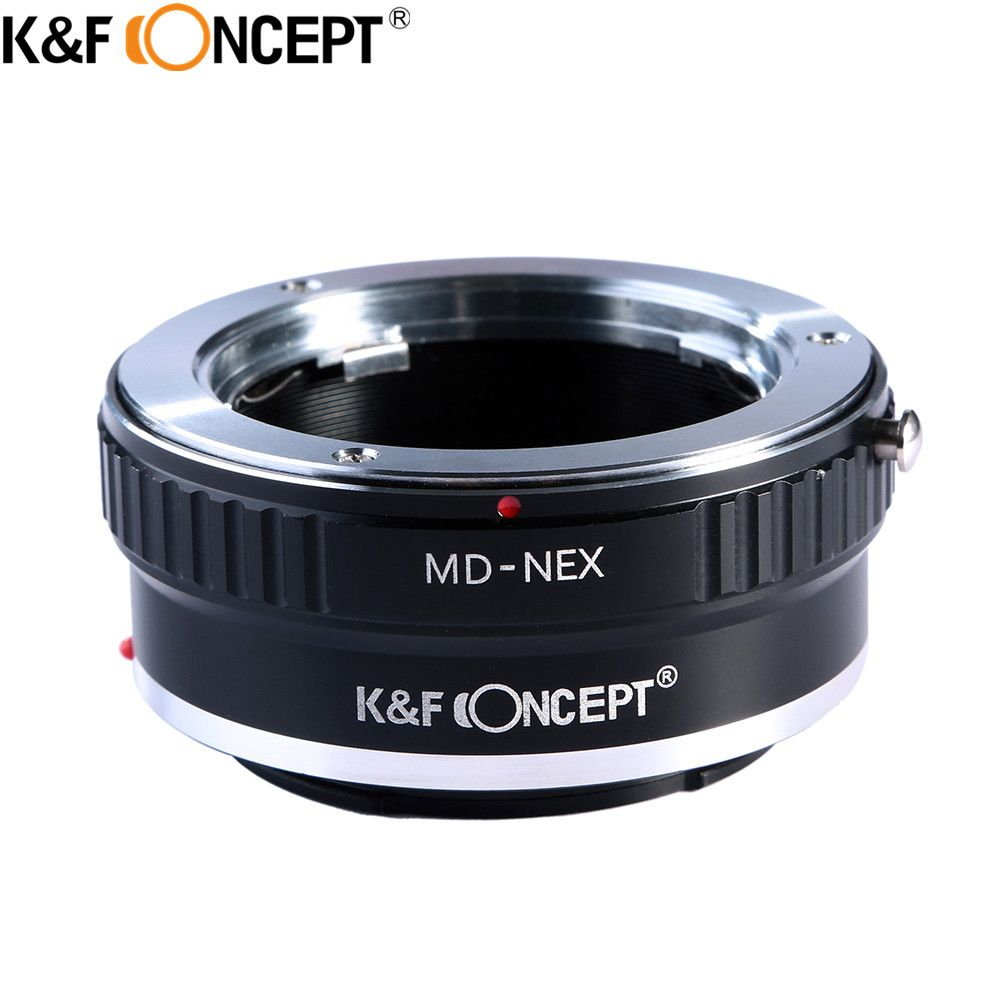 K&F CONCEPT T2-NEX Camera Lens Adapter Ring for Minolta MC MD Mount Lens  for Sony NEX Camera NEX-3 NEX-5 NEX-VG10 NEX-5T