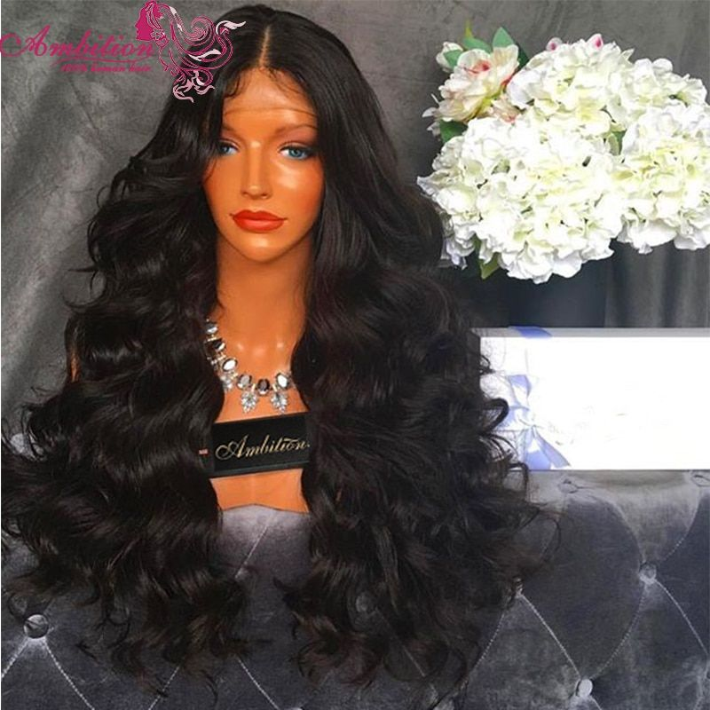 Large Stock Full 180% Density Vigin Brazilian Human Hair Lace Front Wig Wavy Human Hair Full Lace Wigs 28 Inches Human Hair Wigs