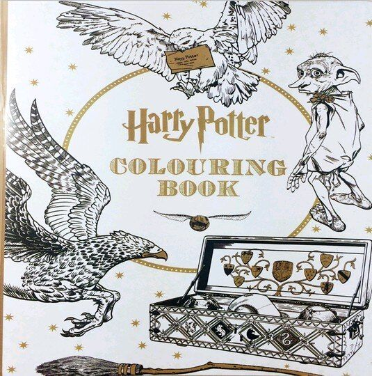 25X25 CM Harry Potter Coloring Book Books for Children Adult Secret Garden Series Kill Time Painting Drawing Books 24 Pages