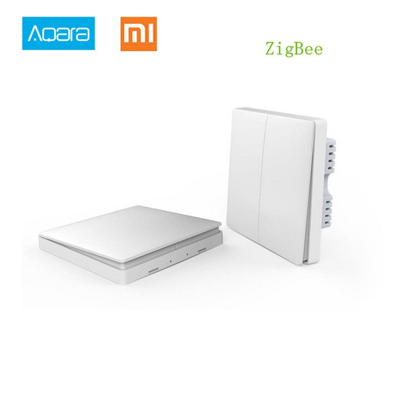 New Smart Wall Switch In Stock made by Aqara(Xiaomi EcoSystem) Parts of Mi Smart Home Kits  Via Smarphone APP Remote By Xiaomi