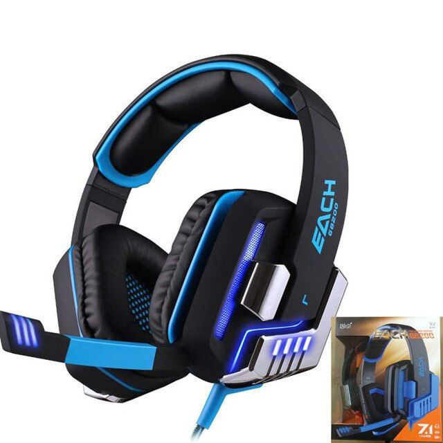 Hot KOTION EACH G8200 Gaming Headphone 7.1 Surround USB Vibration Game Headset Headband Earphone with Mic LED Light for PC Gamer