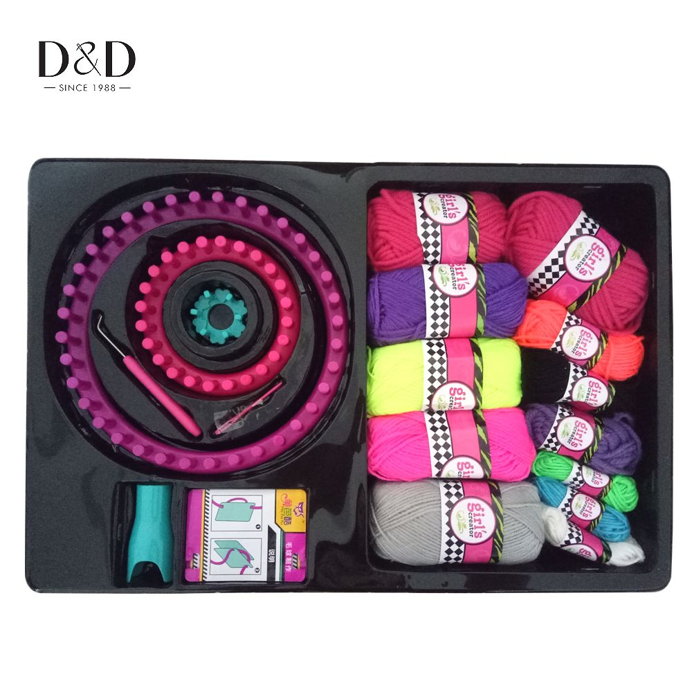 18pcs Sewing Accessories Round Loom Castle knitting Machine DIY Hand Woven Tool Organizer 5cm/13.5cm/24cm