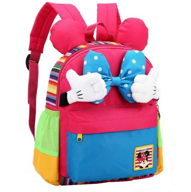 Cute Kids Backpack Kindergarten Girls Boys Children Backpack Kawaii School Bag  Korean Style Bow-knot For 1-5 years old