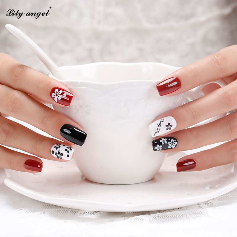 Lily angel 3 Sheets DIY Designer Water Transfer Tips Nail Art 3D butterfly Flower Sticker Decals Women Beauty Nails tools Z