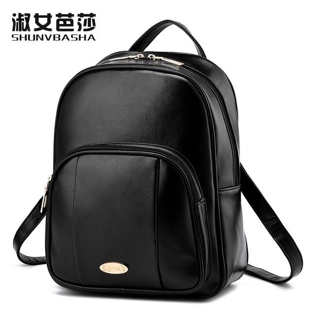 SNBS 100% Genuine leather Women backpack 2016 New wave of female students backpack spring and summer fashion casual women bag